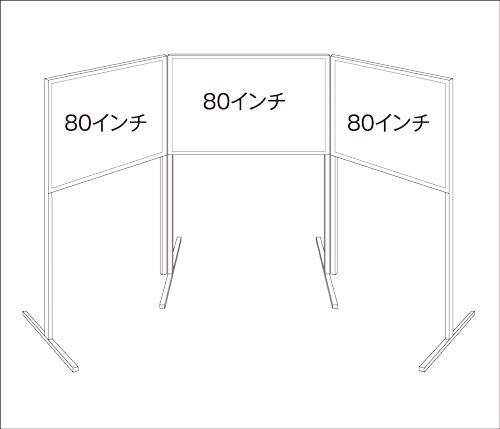 三面スタンド型画像