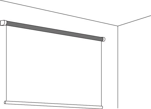 ロール型壁面設置例