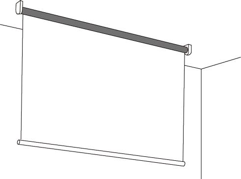 ロール型天井面設置例