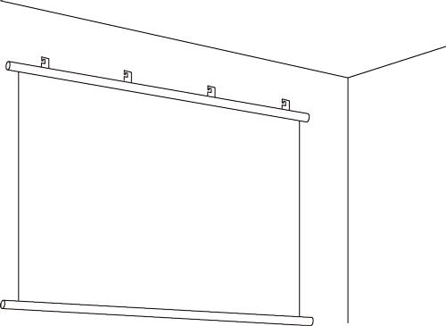 タペストリー型壁面設置例