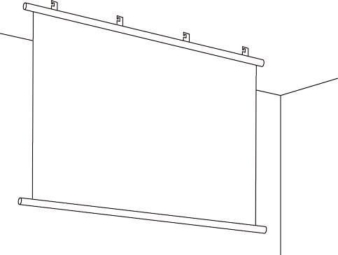 タペストリー型天井面設置例